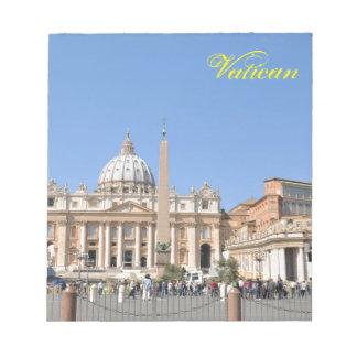 Bloc-note Carré de San Pietro à Vatican, Rome, Italie