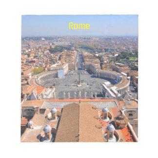 Bloc-note Carré de St Peter à Vatican, Rome, Italie