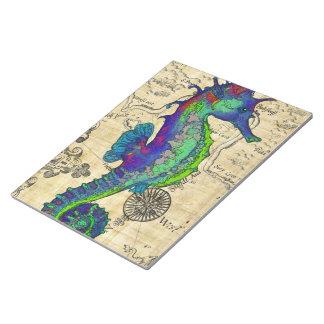 Bloc-note Carte comique vintage d'hippocampe