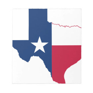 Bloc-note Carte de drapeau du Texas