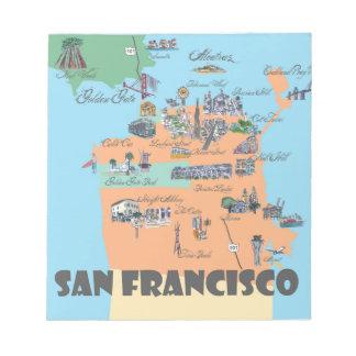 Bloc-note Carte de San Francisco la Californie