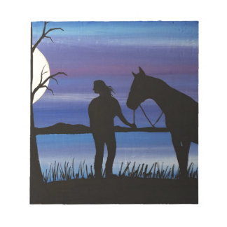 Bloc-note cavalier et cheval