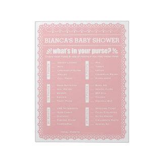 Bloc-note Ce qui est dans votre baby shower de Papel Picado
