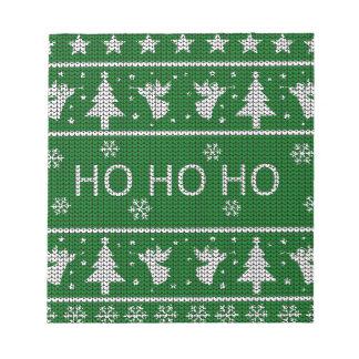 Bloc-note Chandail laid de Noël