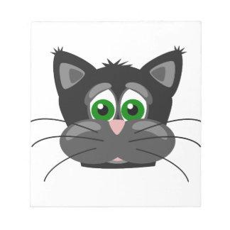 Bloc-note Chat noir aux yeux verts