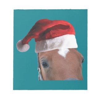 Bloc-note Cheval de Noël