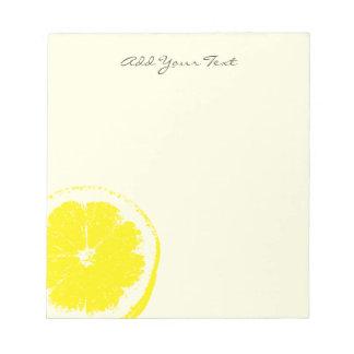 Bloc-note Citron
