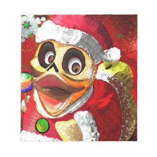 Bloc-note Cocos Père Noël mignon en caoutchouc