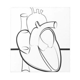 Bloc-note Coeur d'ECG