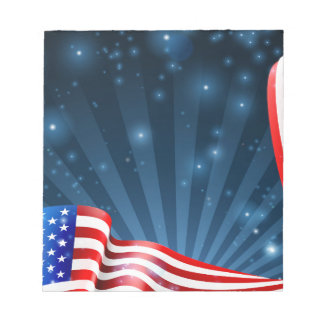 Bloc-note Conception d'arrière - plan de drapeau américain