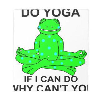 Bloc-note Conception de inspiration de grenouille de yoga