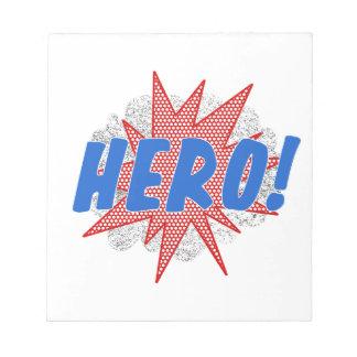 Bloc-note Conception d'étoile de héros