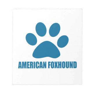 BLOC-NOTE CONCEPTIONS DE CHIEN DE FOX-HOUND AMÉRICAIN