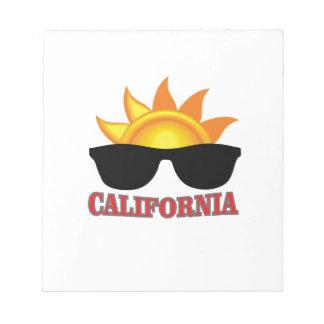 Bloc-note cool rouge de la Californie