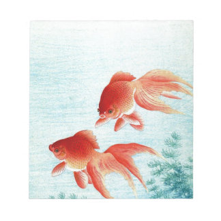 Bloc-note Copie japonaise vintage de poissons