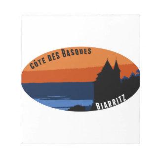 Bloc-note Côte des Basques Biarritz