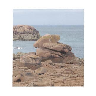 Bloc-note Côte rose de granit en Bretagne