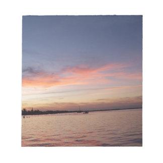 Bloc-note Coucher du soleil au-dessus de baie de la Floride,