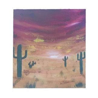 Bloc-note Coucher du soleil de désert