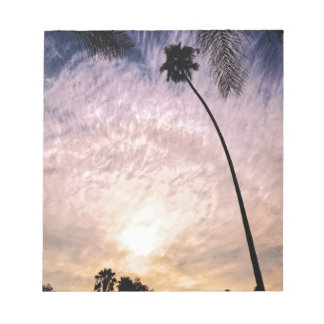 Bloc-note Coucher du soleil de la Californie du sud