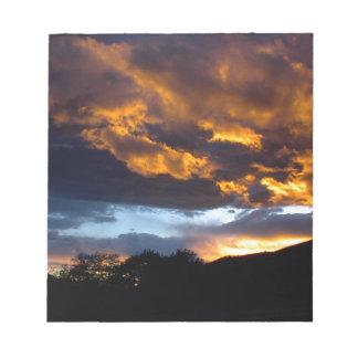 Bloc-note Coucher du soleil du Montana