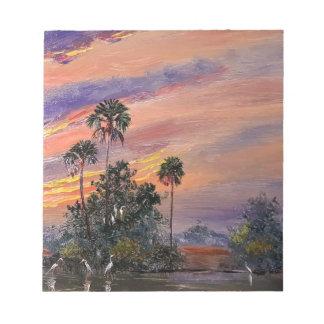 Bloc-note Couleurs de coucher du soleil de la Floride