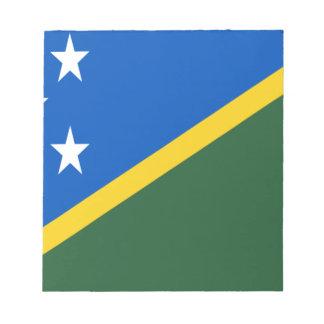 Bloc-note Coût bas ! Drapeau d'îles Salomon