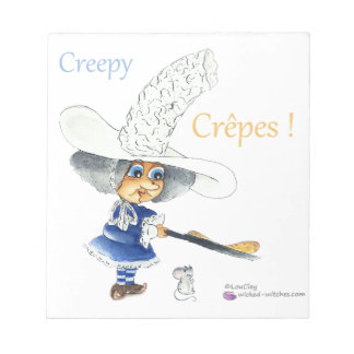 Bloc-note Creepy Crepes Wicked Witches