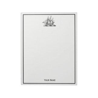 Bloc-note Crête nautique vintage héraldique de bateau de