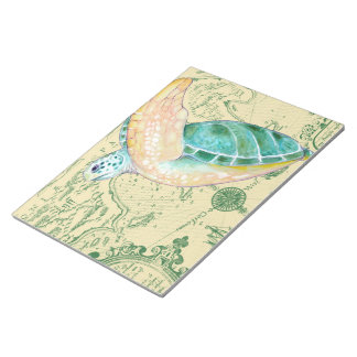 Bloc-note Cru bronzage de carte de tortue de mer