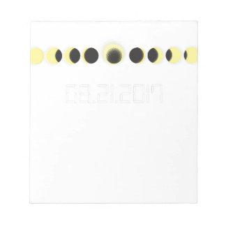 Bloc-note Cycle total d'éclipse solaire