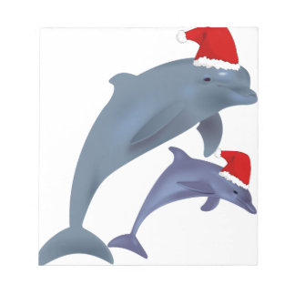 Bloc-note dauphins de père Noël