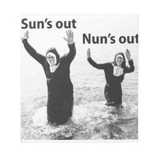Bloc-note Des soleils nonnes