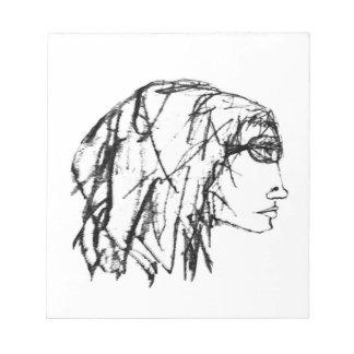 Bloc-note Dessin frais de portrait de femme