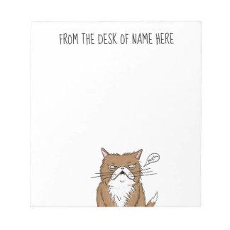 Bloc-note Dessin grincheux drôle de chat de Meh