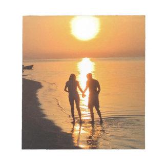 Bloc-note Deux amants au lever de soleil