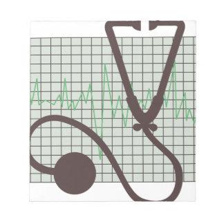 Bloc-note Diagramme médical