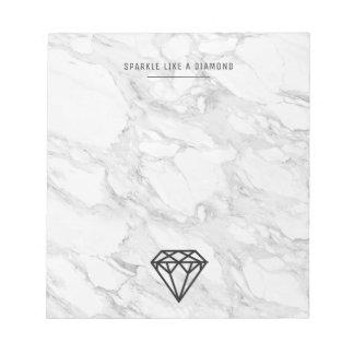Bloc-note Diamant avec du marbre