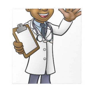 Bloc-note Docteur personnage de dessin animé