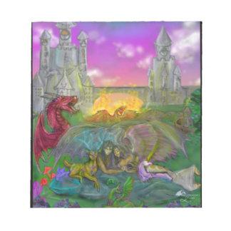 Bloc-note Dragon d'ange d'homme de femme de licorne de