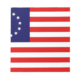 Bloc-note Drapeau américain de 13 colonies