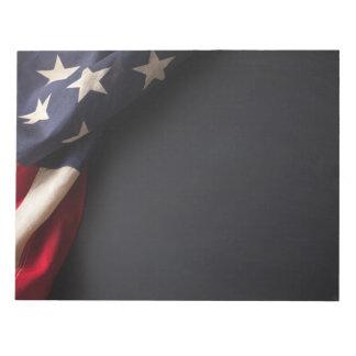 Bloc-note Drapeau américain vintage sur le tableau