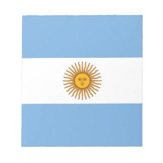 Bloc-note Drapeau argentin patriotique