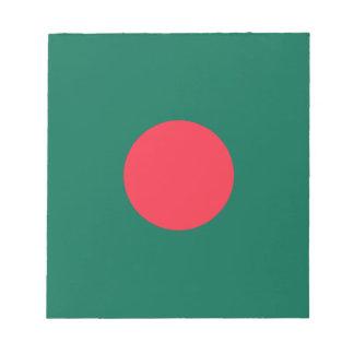 Bloc-note Drapeau bangladais patriotique