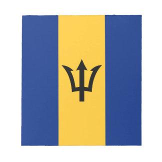 Bloc-note Drapeau patriotique des Barbade