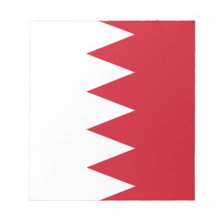 Bloc-note Drapeau patriotique du Bahrain