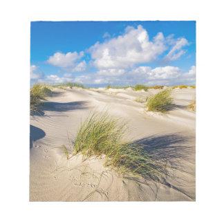 Bloc-note Dunes sur l'île Amrum de la Mer du Nord