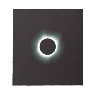 Bloc-note Éclipse 2017 solaire totale