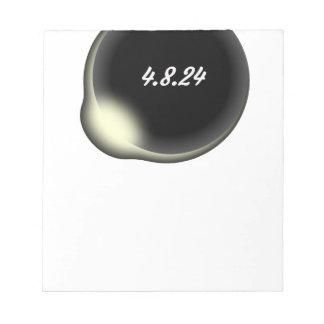 Bloc-note Éclipse de totalité
