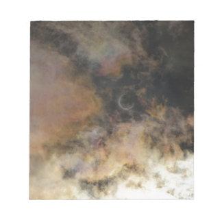 Bloc-note Éclipse solaire et nuages